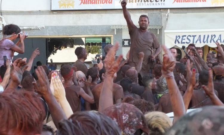 Imagen de la fiesta del Cascamorras del año pasado.