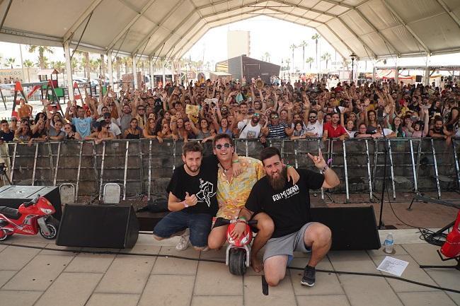 Imagen del concierto en The Juergas Rock Festival, de Adra.