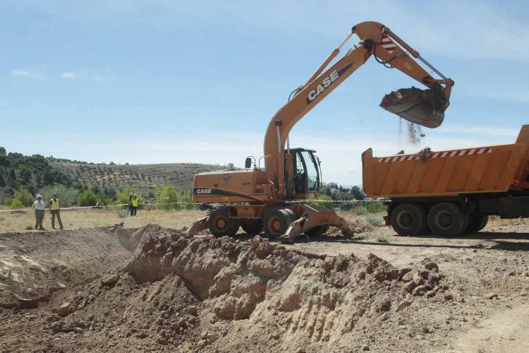 Imagen de la excavación que coordinó Caballero en 2016.