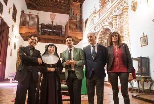 Presentación de los conciertos en el Monasterio de Santa Isabel la Real.