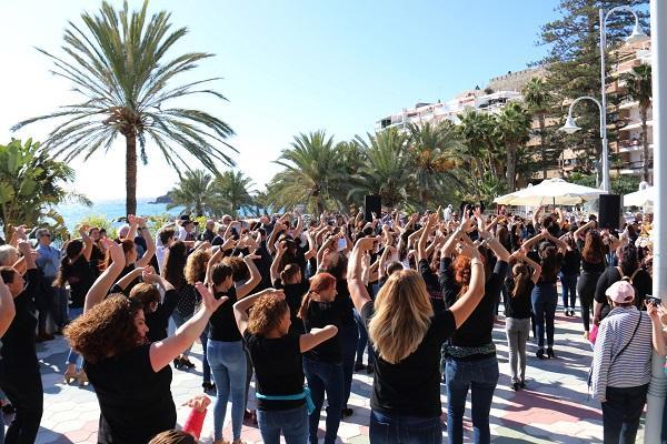 Flashmob para celebrar el Día del Flamenco.