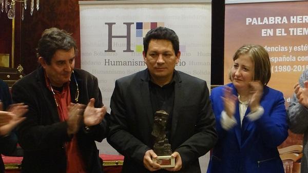 Galán, con el Premio Erasmo de Rotterdam.
