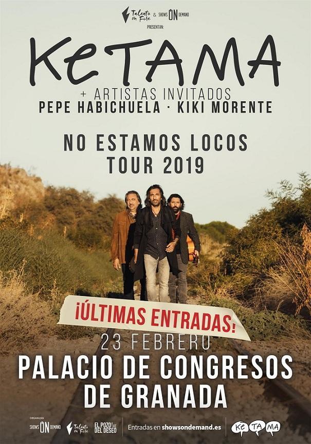 Cartel del concierto en Granada.