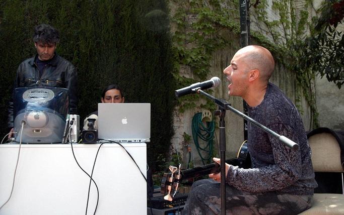Antonio Arias, durante una actuación.
