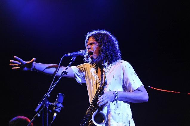 Antonio Lizana, saxofonista y cantaor.