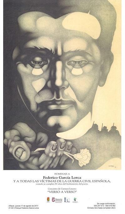 Cartel del 81 aniversario del asesinato de Lorca.