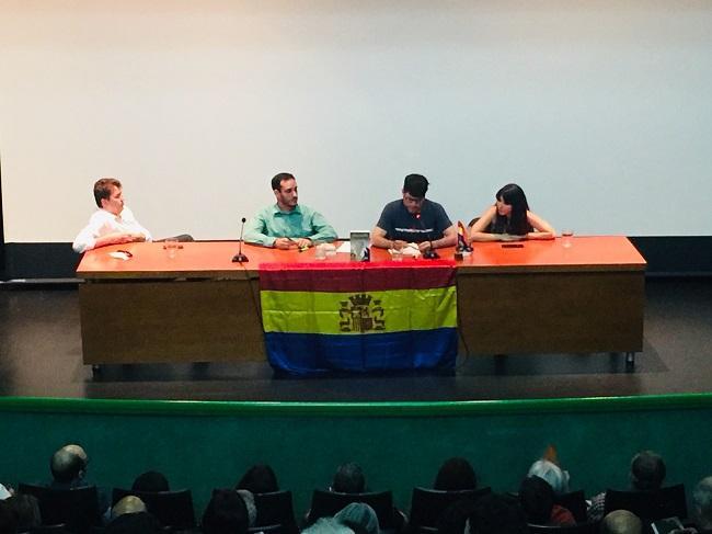 Miguel Ángel del Arco, Loïc J. Molinete, Jorge Marco y Alba Valero, en la presentación del libro.