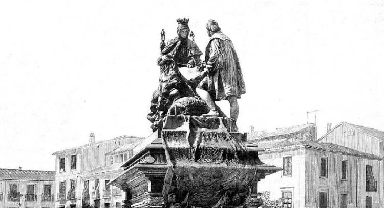 Granada, por primera vez, conoció el monumento a Colón el 22 de octubre de 1892 gracias al grabado que publicó Ilustración Española. El porqué, como otras curiosidades relativas a los centenarios del Descubrimiento de América lo desvela este reportaje.