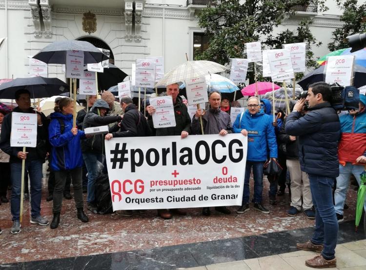 Concentración por la OCG en la Plaza del Carmen.