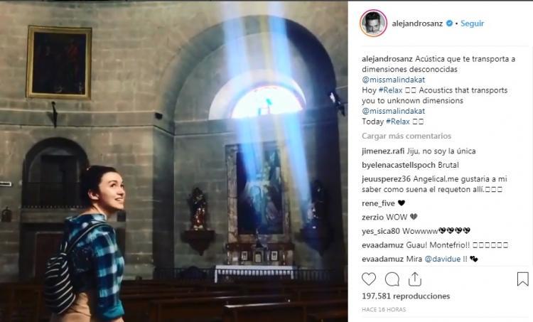 Captura de pantalla de una de las redes de Alejandro Sanz.