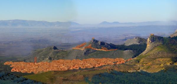 Reconstrucción ideal de la ciudad de Castilia-Medina Elvira (S.VIII-XI).