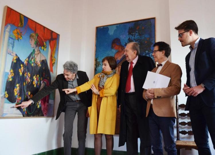 La estancia incluye 14 cuadros de José María Rodríguez-Acosta.