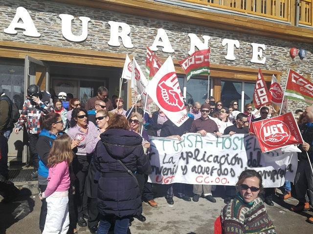 Una de las concentraciones de protesta en Sierra Nevada.