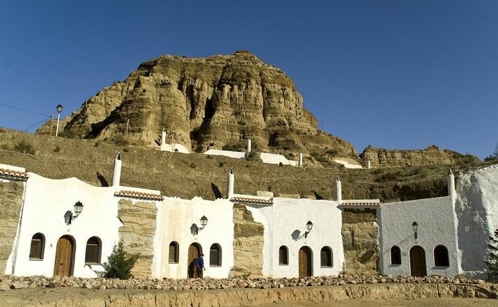 Casas cueva Abuelo Ventura, en Guadix.