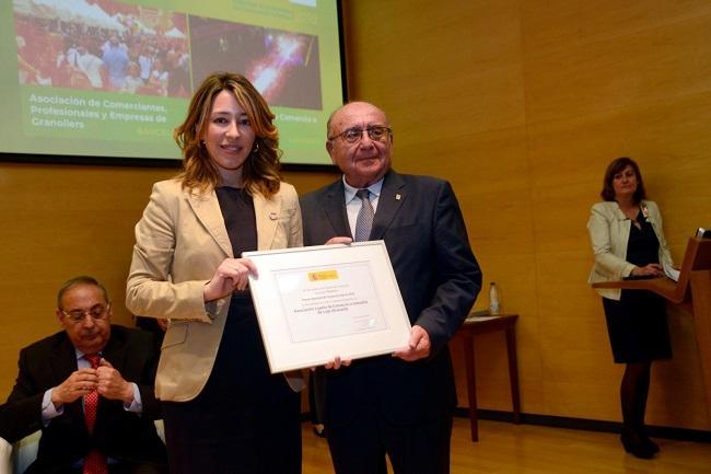 Antonio Campos al recibir la distinción.