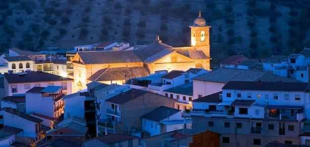 Vista de Algarinejo, el municipio con menos renta media de la provincia.