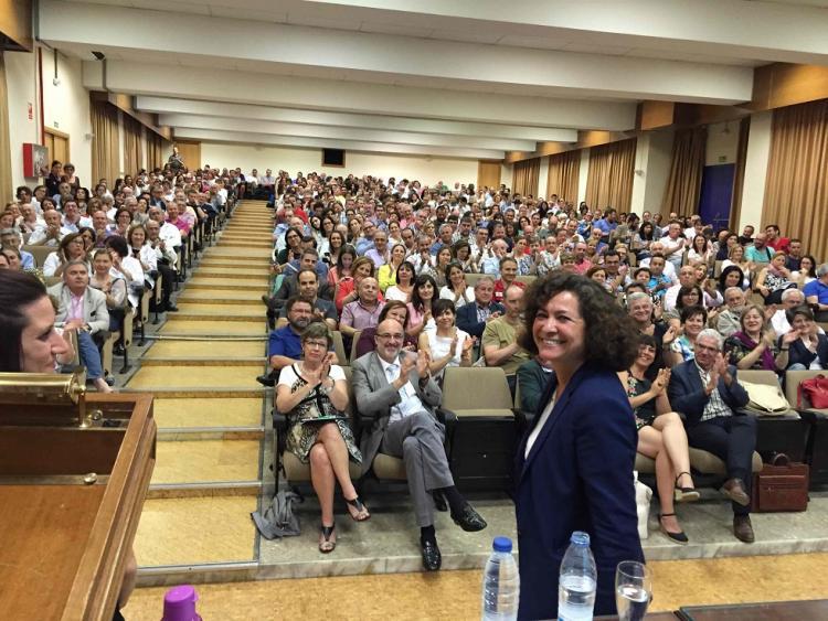 Pilar Aranda, en la presentación de su candidatura.