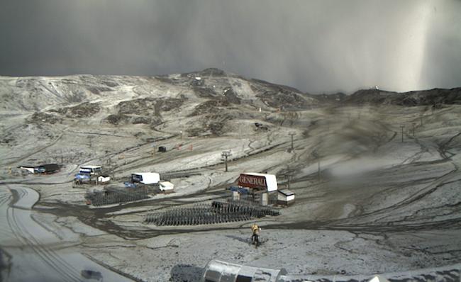 Espectacular imagen de Sierra Nevada este lunes.