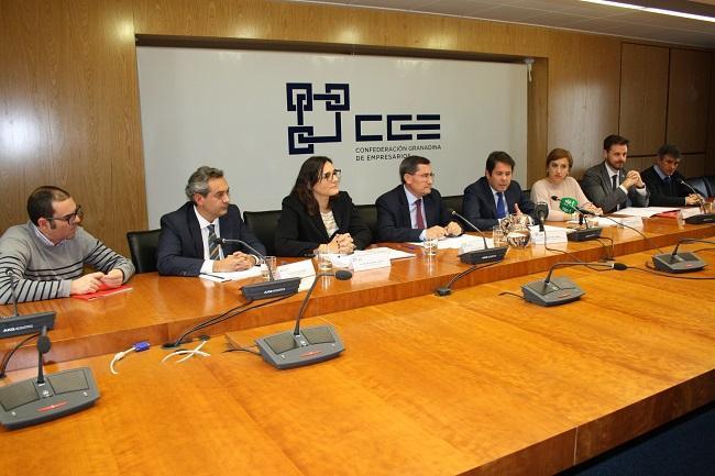 Cuerva en la reunión con los representantes institucionales y del PP.
