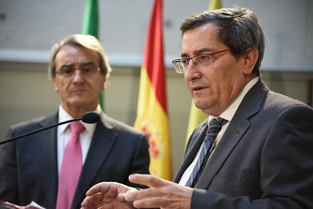 Los presidentes de Diputación y Caja Rural.