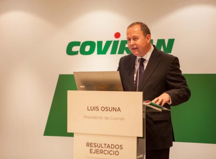 Luis Osuna, presidente de Covirán, informa de los resultados.