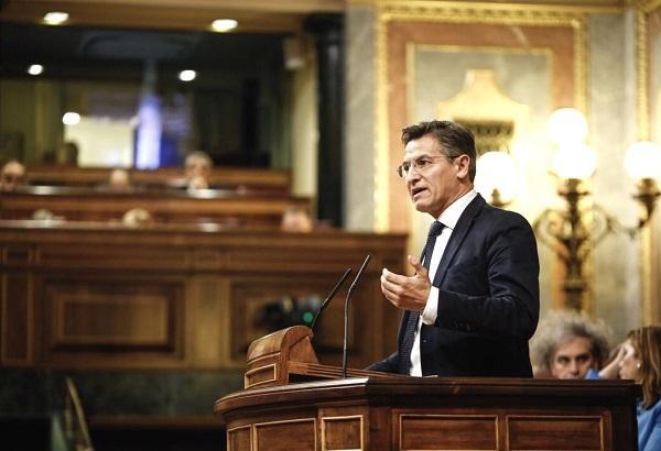 Luis Salvador, en una intervención en el Congreso.
