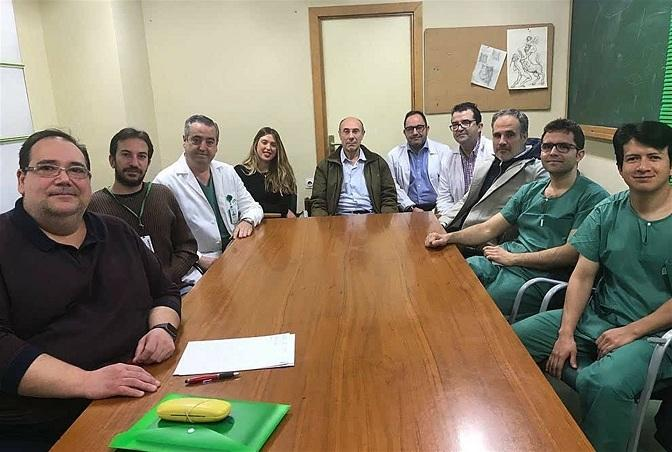 Equipo de Urología que ha participado en el trabajo.