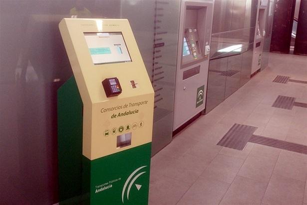 Máquina para recargar tarjetas de transporte.