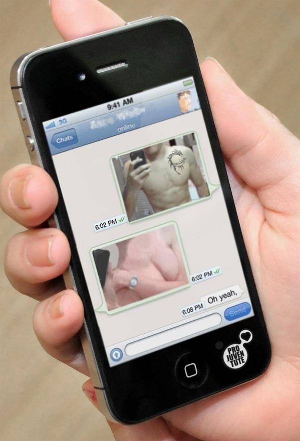El 'sexting' consiste en la difusión o publicación de contenido provocativo o sexual.