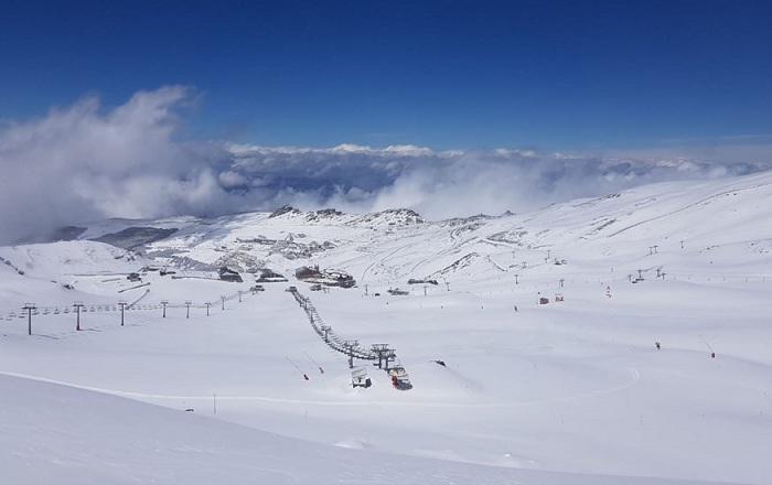 Aspecto de las pistas tras la última nevada.
