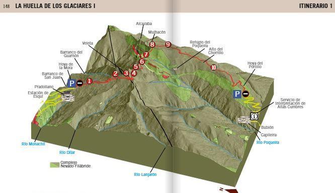 Página de uno de los itinerarios de la guía.