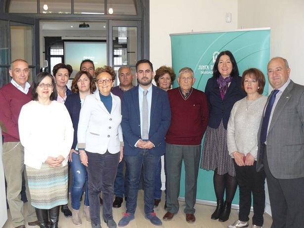 Representantes de la Alpujarra y Valle de Lecrín, en la delegación de la Junta en Bruselas.