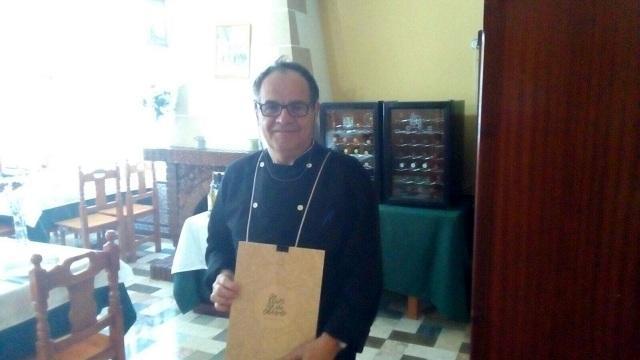 Jean Paul Vinay, en su restaurante de Montefrío.