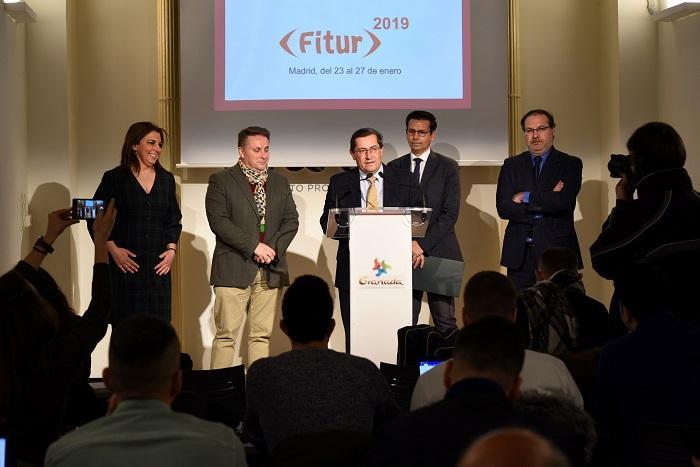 Rueda de prensa de presentación de la participación de Granada en FITUR.