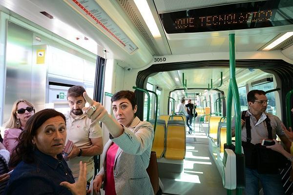 Mariela Fernández-Bermejo, este viernes en unas jornadas de seguridad vial en el Metro en pruebas.