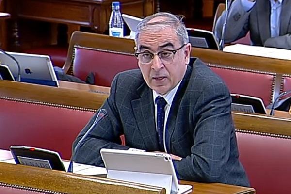 José Martínez Olmos durante su intervención.