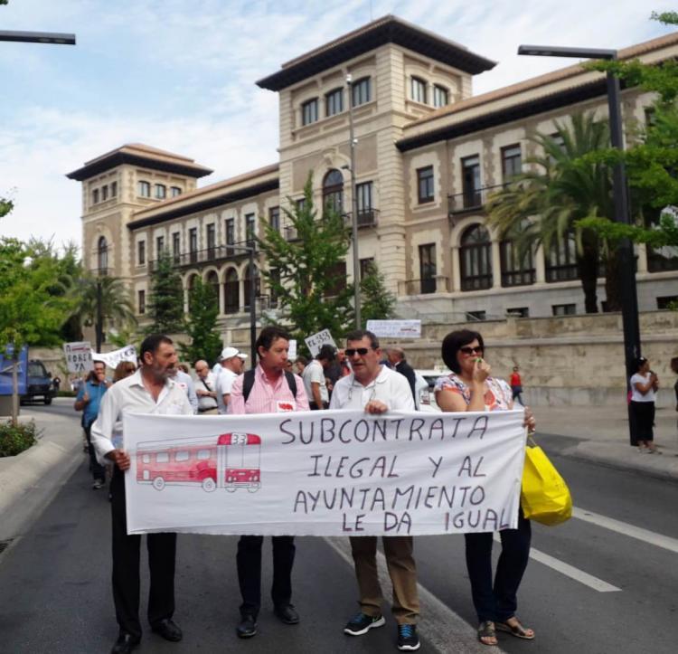 Manifestación por Gran Vía.