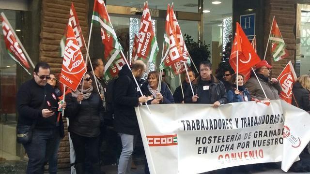 Una de las protestas por el bloqueo del convenio.