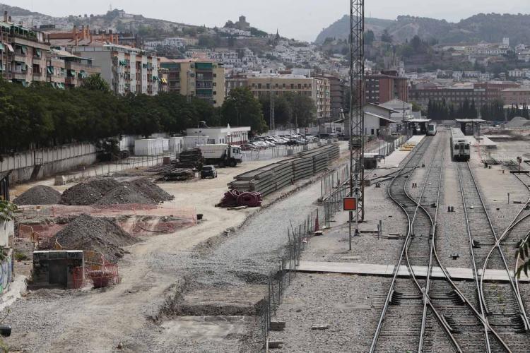 Aspecto que presentaba la estación al inicio de las obras para la llegada del AVE.