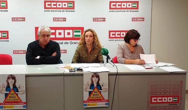 CCOO inicia la campaña 'No más excusas. En el trabajo la salud es lo primero'.