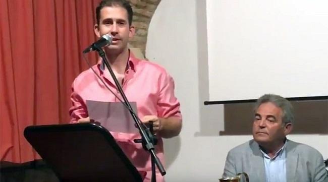 Rafael Bailón, en una imagen correspondiente al Certamen Literario de Riópar.