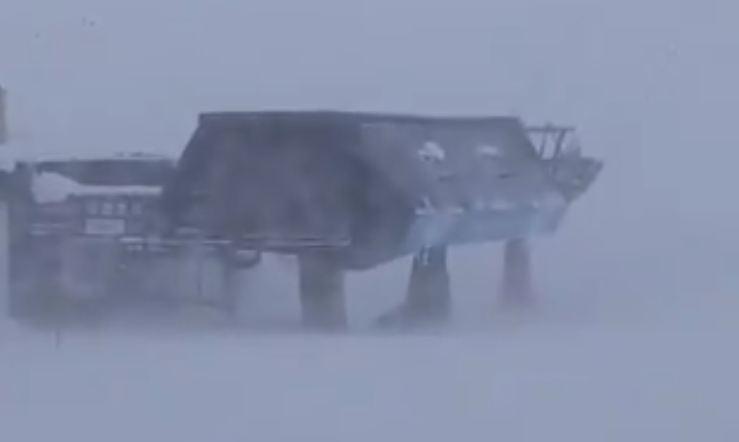 Escasa visibilidad en Siera Nevada esta mañana.