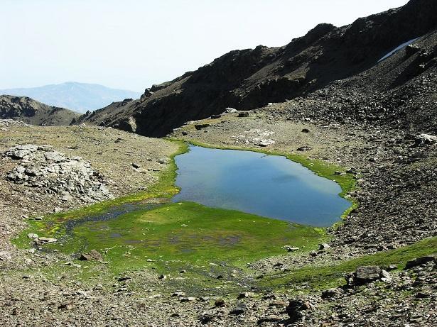 Laguna de Aguas Verdes, en Sierra Nevada.