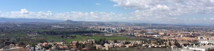 Imagen de la cornisa Sur del Cinturón de Granada.