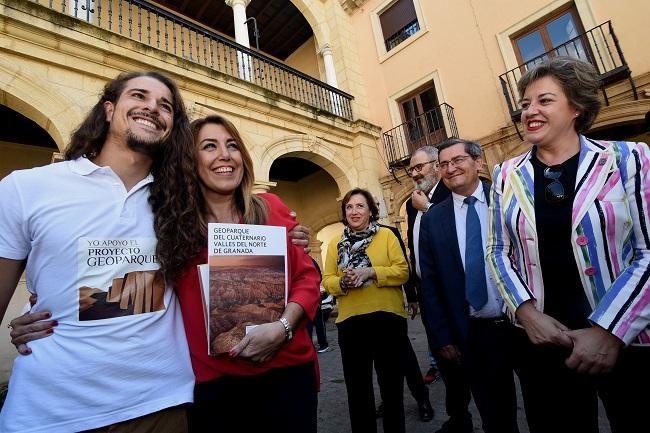 La presidenta de la Junta, Susana Díaz, este miércoles en Guadix.