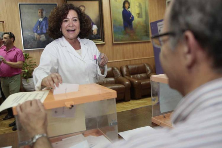 Pilar Aranda, en las pasadas elecciones.