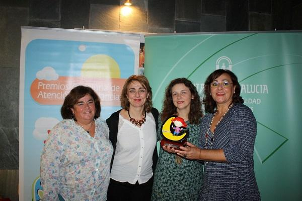 De izquierda a derecha: Marina Gálvez(vocal), Rosa Mª Lozano (vocal), Concha Campos (presidenta) y Rosa García (secretaria).