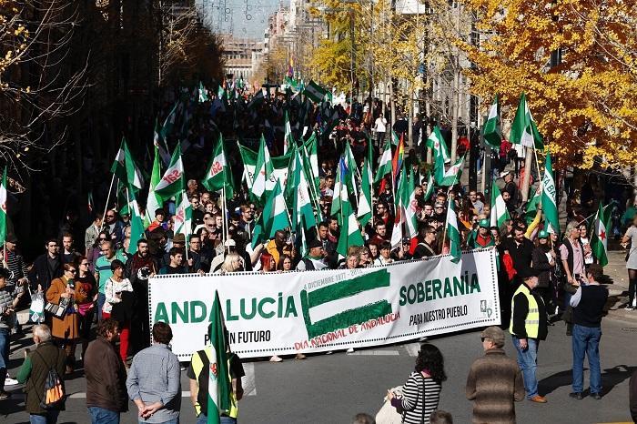 La manifestación a su paso por Gran Vía.