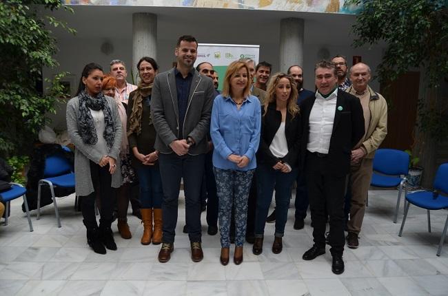 Candidatos de Adelante Andalucía, en la presentación del programa medioambiental.