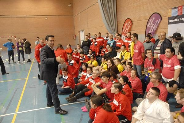 Cuenca, en un acto de este martes con deportistas.